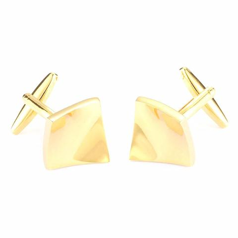 Concave Gold Metal Cufflinks - 1