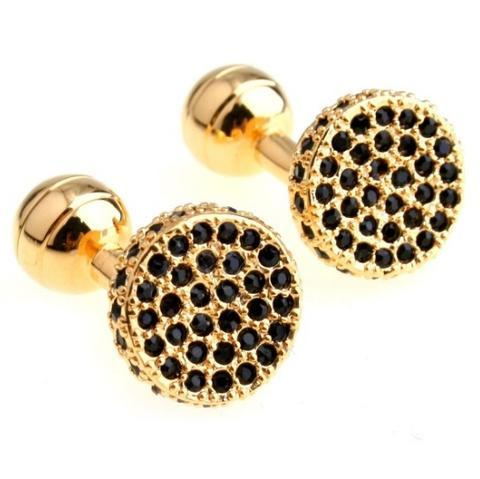 Cufflinks gold with black stones