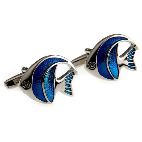 Little Blue Fish Cufflinks - 1