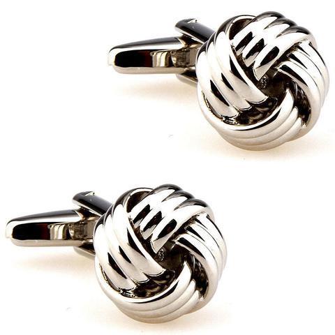 Gun Metal Knot Cufflinks - 1