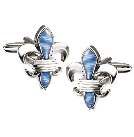 Cufflinks Lepton Blue Fleur De Lis - 1