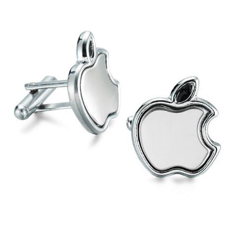Cufflinks apple silver - 1