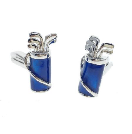 Cufflinks golf bag blue