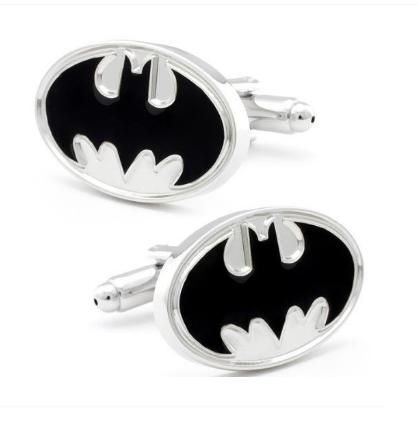 Enamel White Batman Logo Cufflinks - 1
