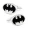 Enamel White Batman Logo Cufflinks - 1/2