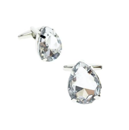 Crystal drop cufflinks