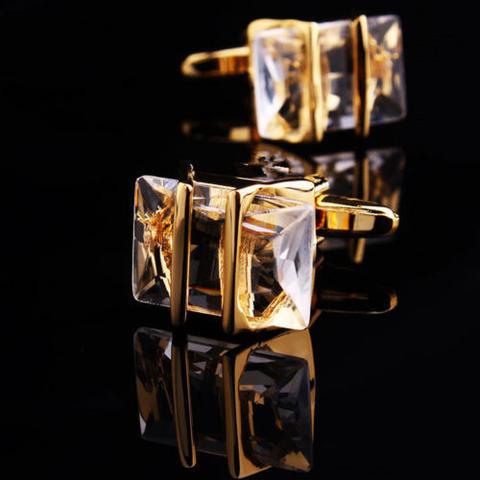 Gemstone Gold Metal Cufflinks - 1
