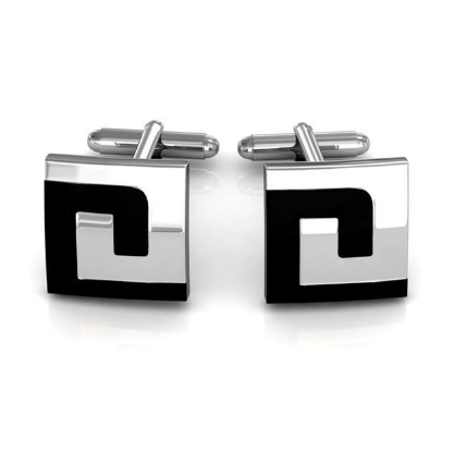Labyrinth Design Square Cufflinks - 1