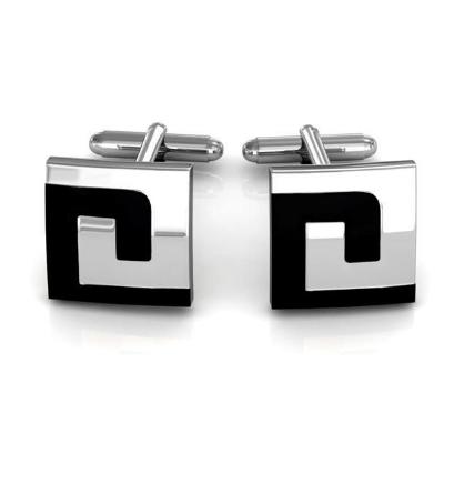 Labyrinth Design Square Cufflinks - 1