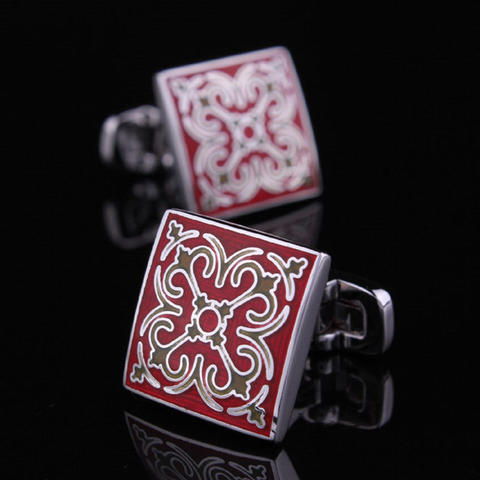 Cufflinks Wedding Red - 1