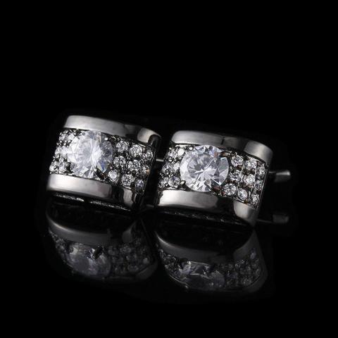 Cufflinks luxury zircon black