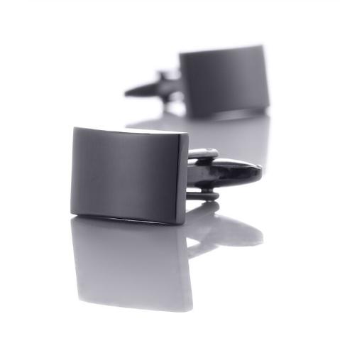 Cufflinks rectangle black