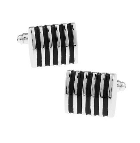 Black Stripes Cufflinks