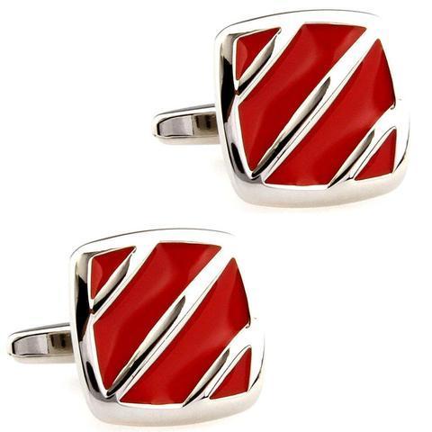 Red Flow Cufflinks - 1