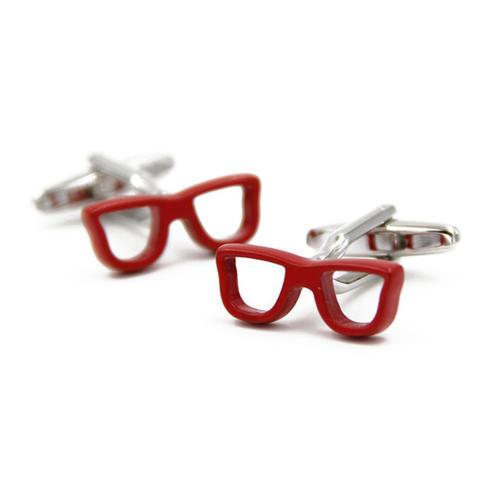 Cufflinks red glasses - 1