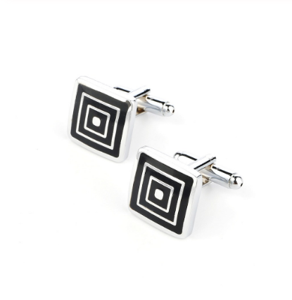 Square-in-square cufflinks
