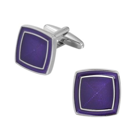 Purple cubes cufflinks