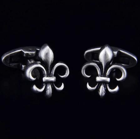 Cufflinks French lily (shield)