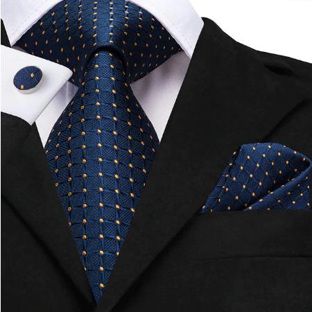 Cufflinks & Tie & Pocket Square Set - Apollón