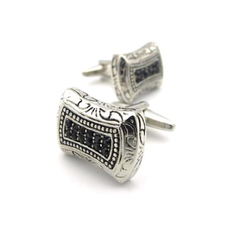 Silver mosaic cufflinks - 1