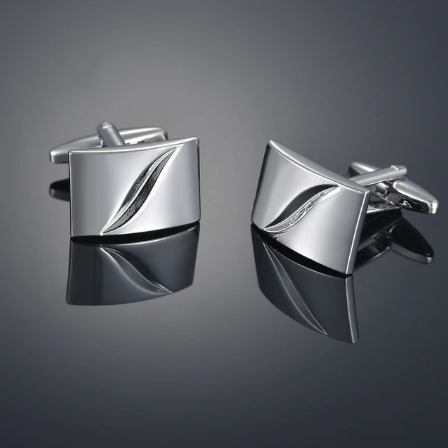Cufflinks with rectangle filling