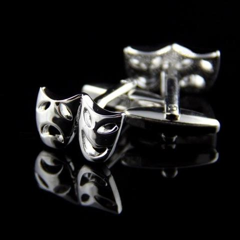 Greek Theater Masks Cufflinks