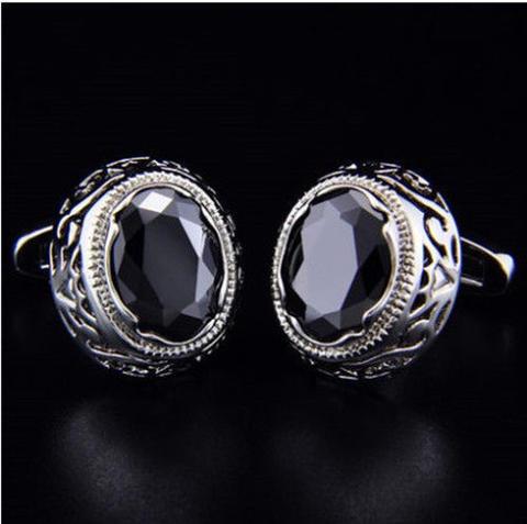 Dragon Eye Circular Ornament Cufflinks - 1