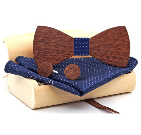 Wooden Cufflinks with Butterfly Perun
