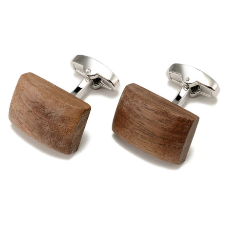 Cufflinks wood big - 1