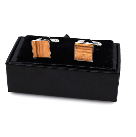 Cufflinks wooden square - 1