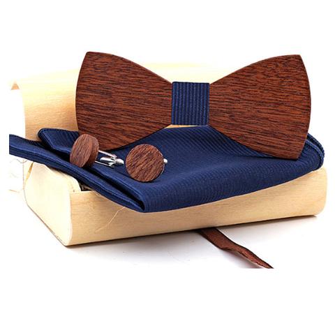 Wooden Cufflinks with Butterfly Dažbog