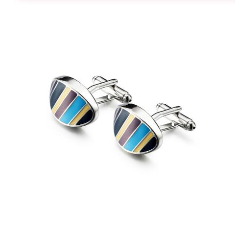 Cufflinks colored stripes - 1