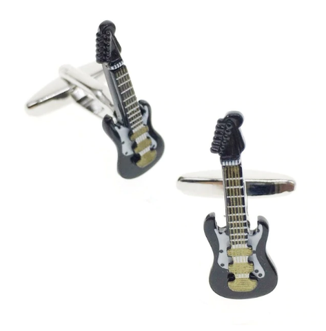 Cufflinks electric guitar black - 1