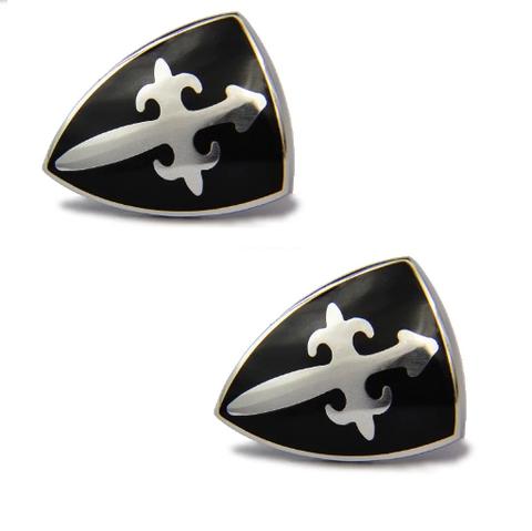 French Shield Cufflinks