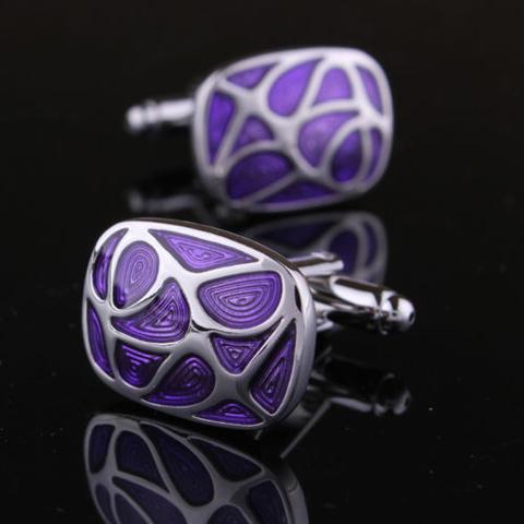Violet Mosaic Cufflinks - 1