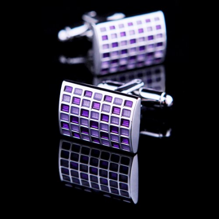 Crimson chessboard cufflinks