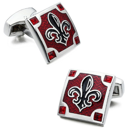 Cufflinks Scout French Lily Red