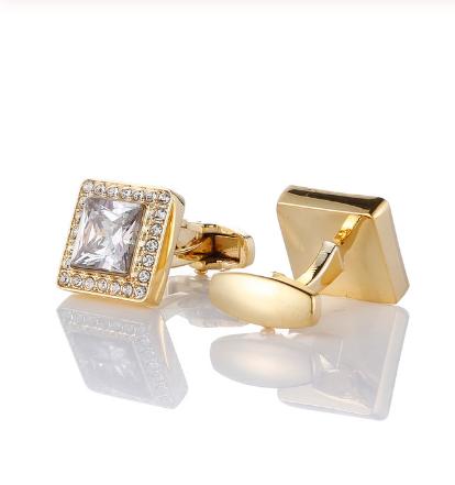 Luxury golden crystal cufflinks