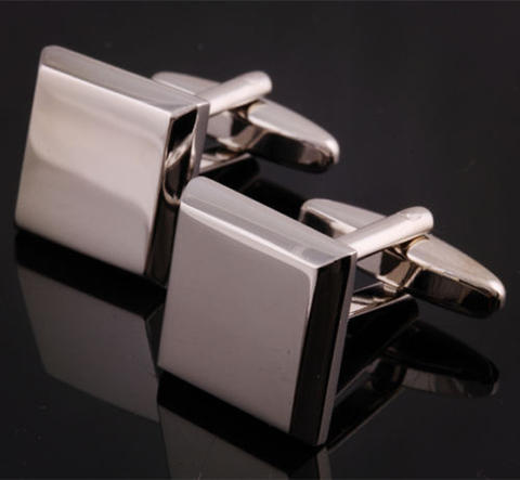 Bevelled Edge Square Cufflinks - 1