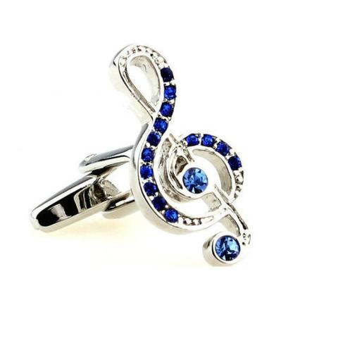Treble Clef Blue Stones Cufflinks - 1