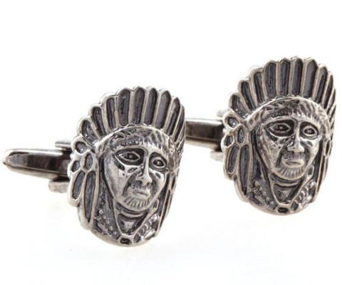 American Indian Cufflinks - 1