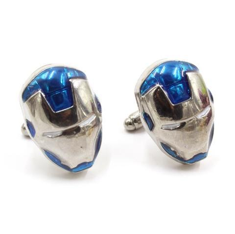 Iron Man Mask Cufflinks blue - 1