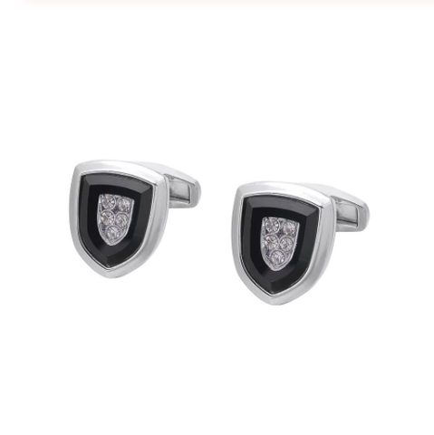 Cufflinks coat of arms with crystal - 1