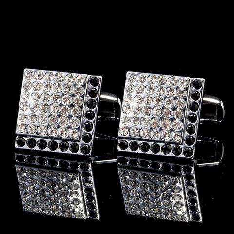Crystal Mosaic Cufflinks - 1
