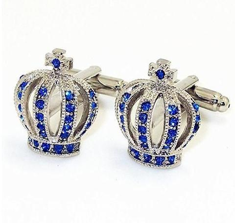 Blue Royal Crown Cufflinks - 1