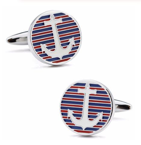 Tommy Hilfiger marine anchor cufflinks - 1