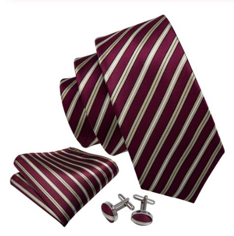 Cufflinks & Tie & Pocket Square Set - Peithó - 1