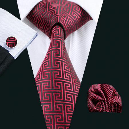 Cufflinks & Tie & Pocket Square Set Thanatos