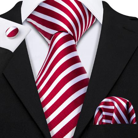 Cufflinks & Tie & Pocket Square Set - Hermés