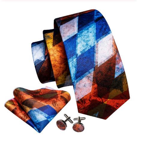 Cufflinks & Tie & Pocket Square Set - Plútos - 1